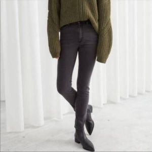 & Other Stories Black High Rise Jeans - 27
